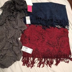 Scarf Lot of 3 NWT